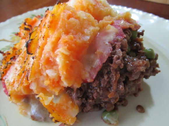 Shepherds Pie with hidden layer of Cheese Melt